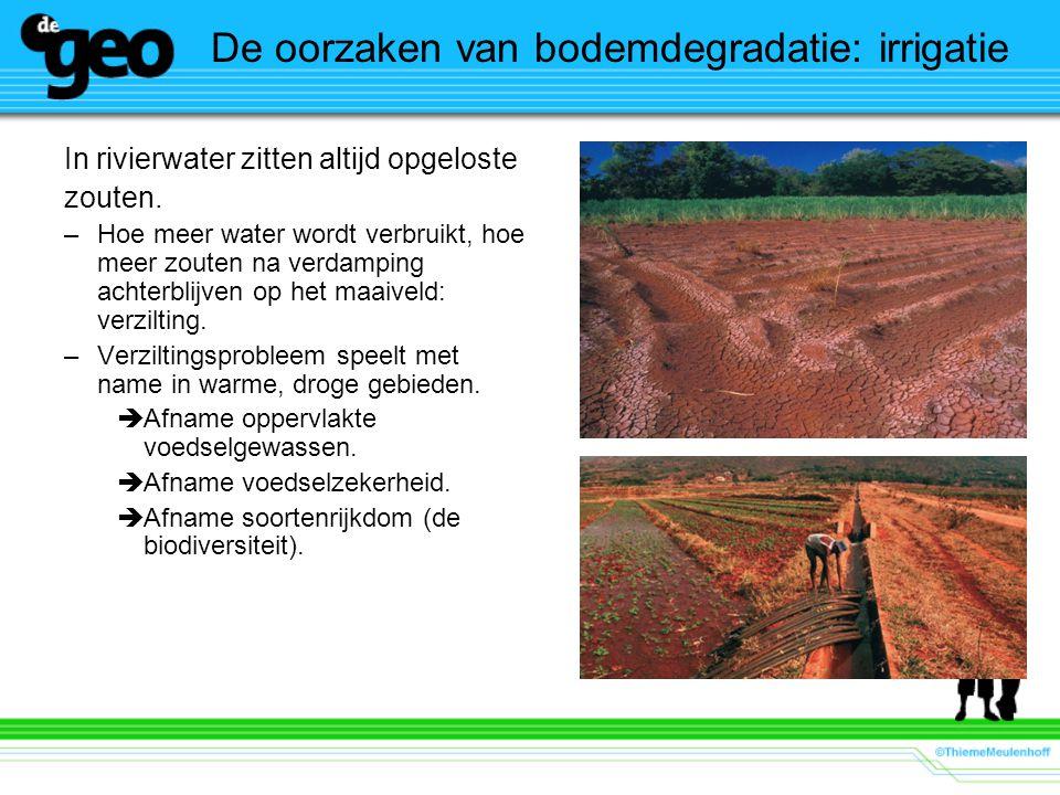 De oorzaken van bodemdegradatie: irrigatie