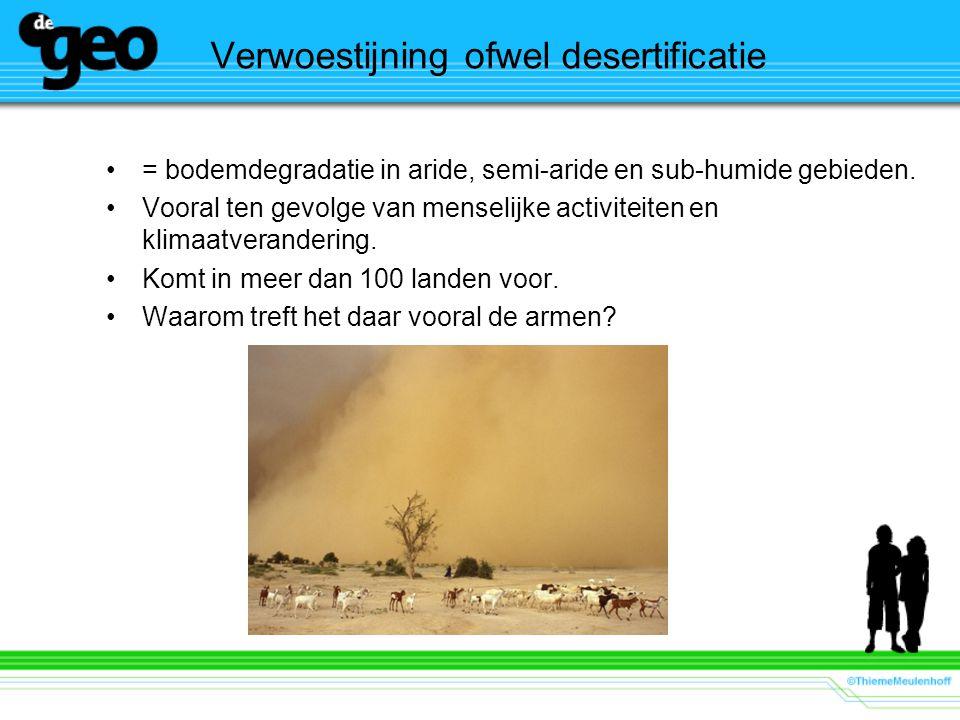 Verwoestijning ofwel desertificatie