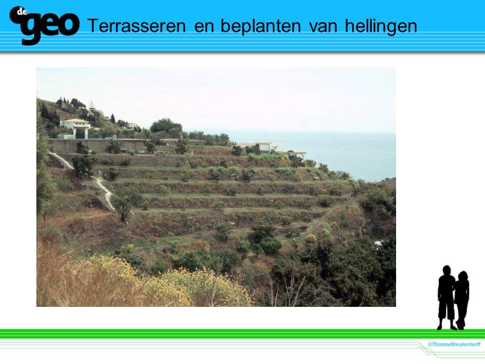Terrasseren en beplanten van hellingen
