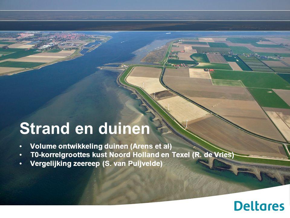 Strand en duinen Volume ontwikkeling duinen (Arens et al)