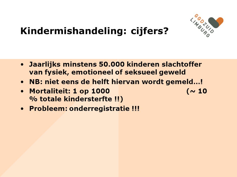 Kindermishandeling: cijfers