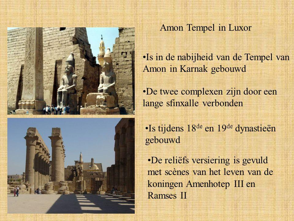 Amon Tempel in Luxor Is in de nabijheid van de Tempel van Amon in Karnak gebouwd. De twee complexen zijn door een lange sfinxalle verbonden.