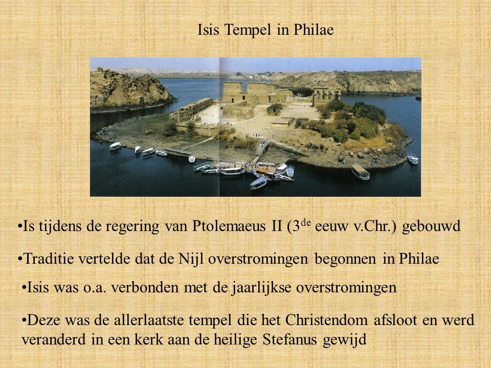 Isis Tempel in Philae Is tijdens de regering van Ptolemaeus II (3de eeuw v.Chr.) gebouwd.