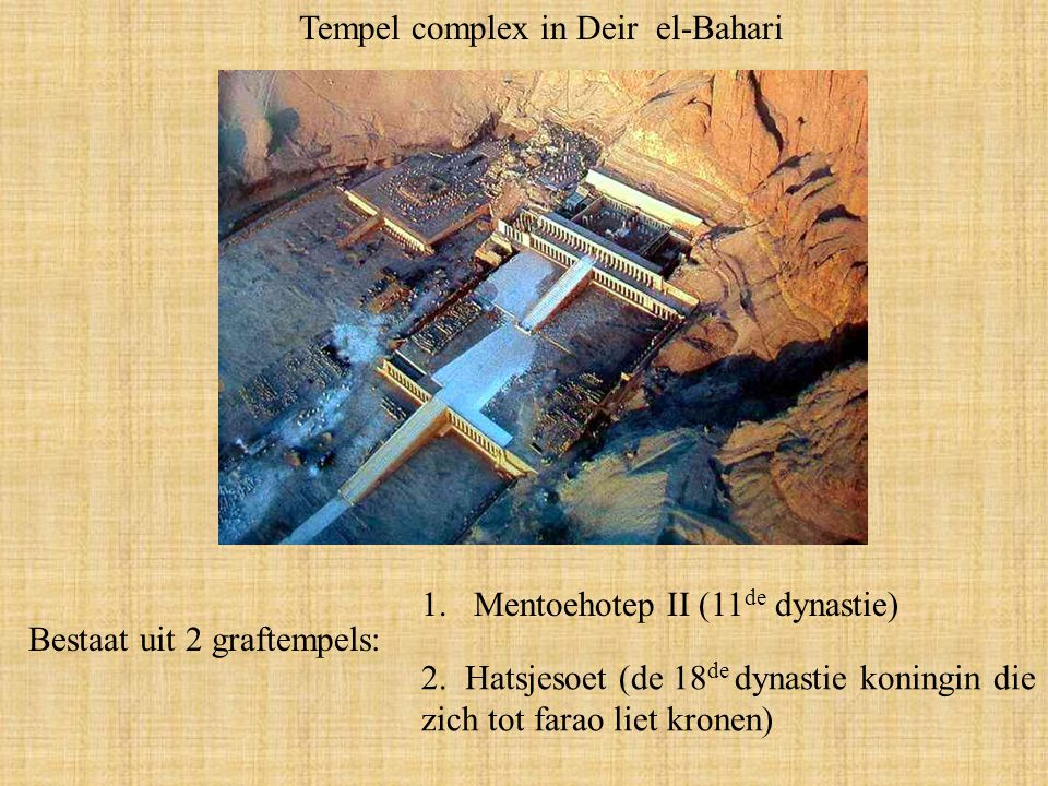 Tempel complex in Deir el-Bahari
