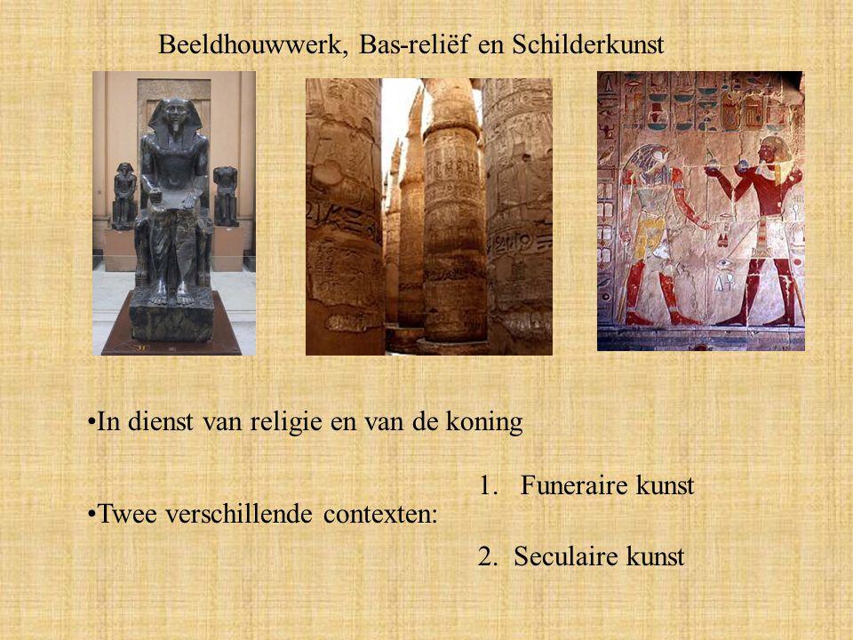 Beeldhouwwerk, Bas-reliëf en Schilderkunst