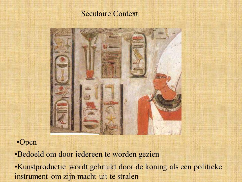 Seculaire Context Open. Bedoeld om door iedereen te worden gezien.
