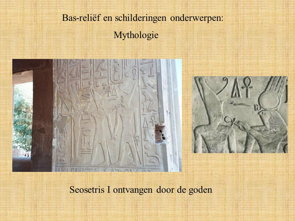 Bas-reliëf en schilderingen onderwerpen: