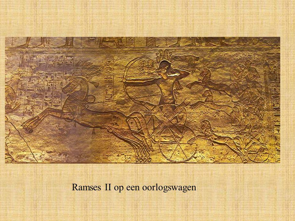 Ramses II op een oorlogswagen