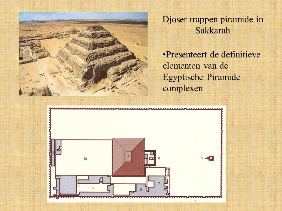 Djoser trappen piramide in Sakkarah
