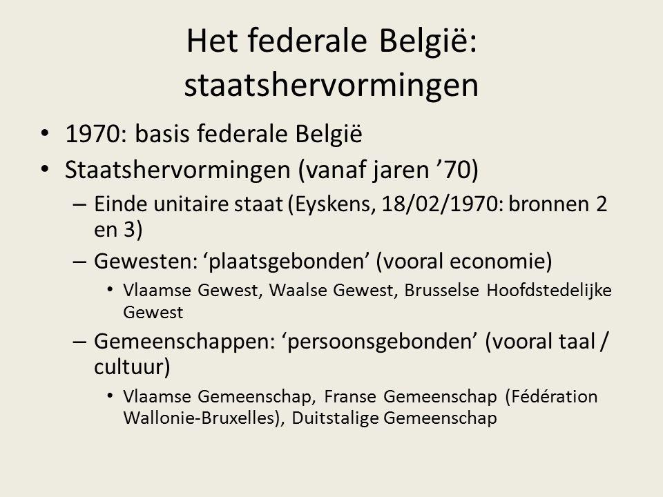 Het federale België: staatshervormingen