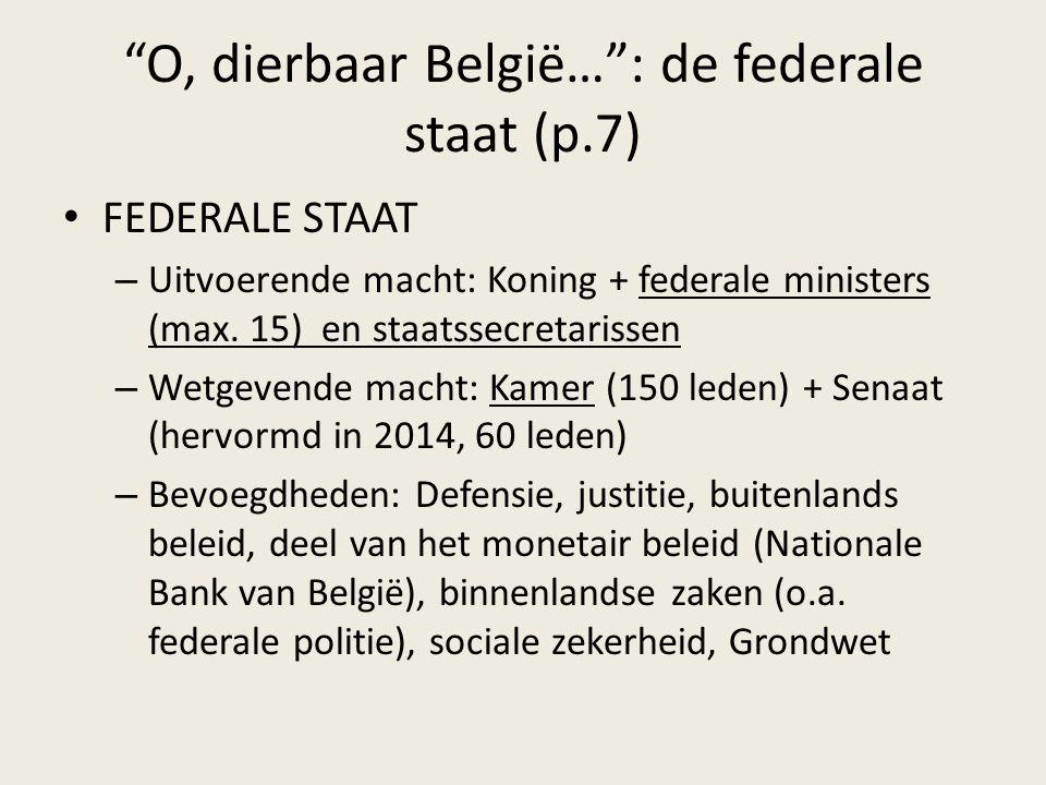 O, dierbaar België… : de federale staat (p.7)