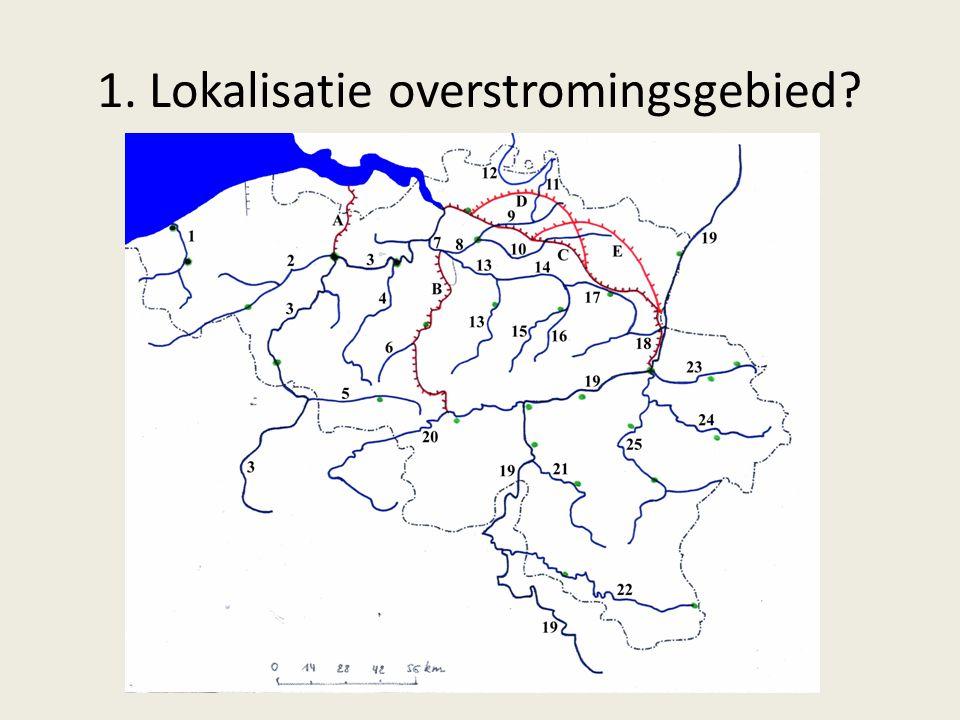 1. Lokalisatie overstromingsgebied