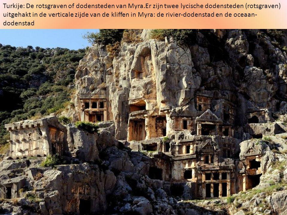 Turkije: De rotsgraven of dodensteden van Myra