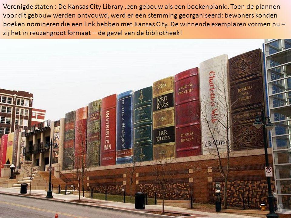 Verenigde staten : De Kansas City Library ,een gebouw als een boekenplank:.
