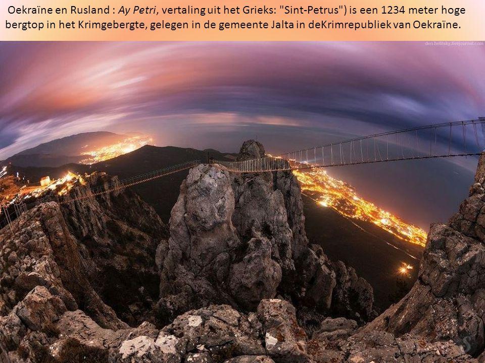Oekraïne en Rusland : Ay Petri, vertaling uit het Grieks: Sint-Petrus ) is een 1234 meter hoge bergtop in het Krimgebergte, gelegen in de gemeente Jalta in deKrimrepubliek van Oekraïne.
