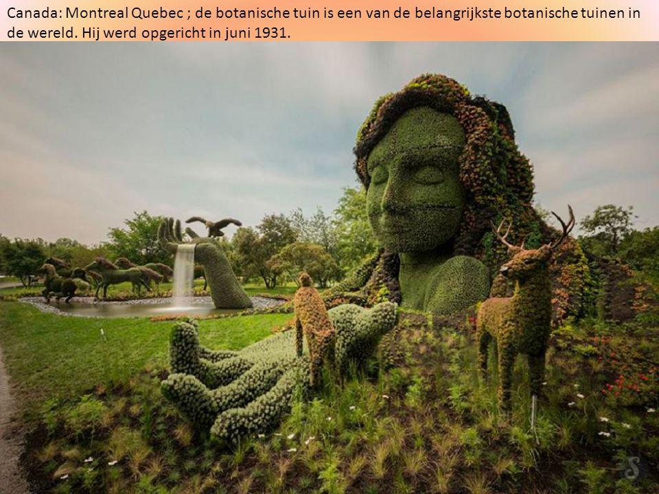 Canada: Montreal Quebec ; de botanische tuin is een van de belangrijkste botanische tuinen in de wereld.