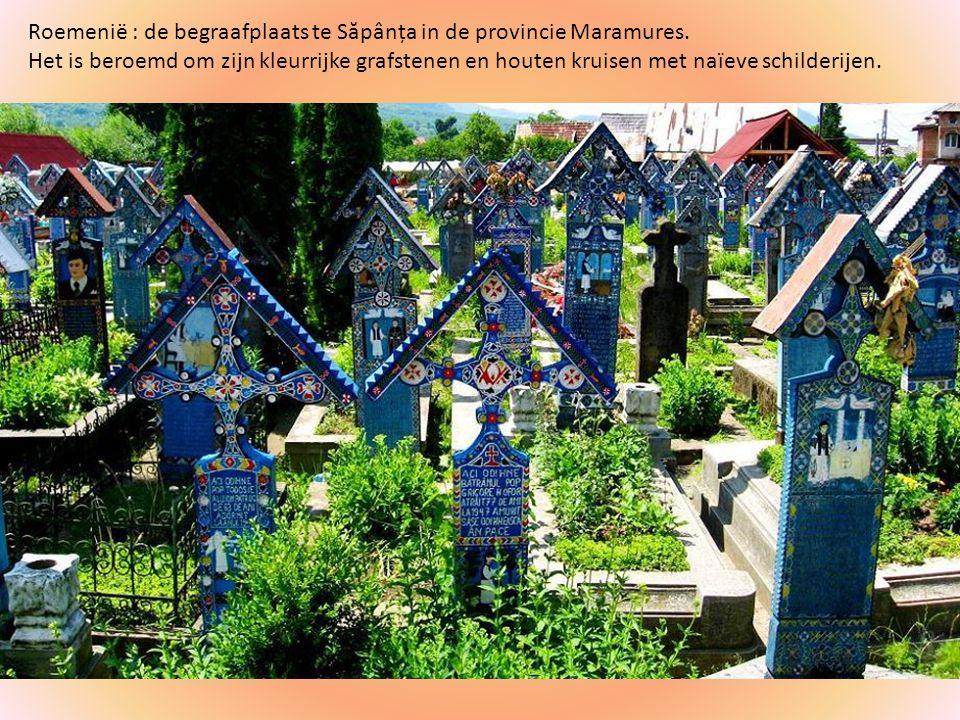 Roemenië : de begraafplaats te Săpânța in de provincie Maramures.