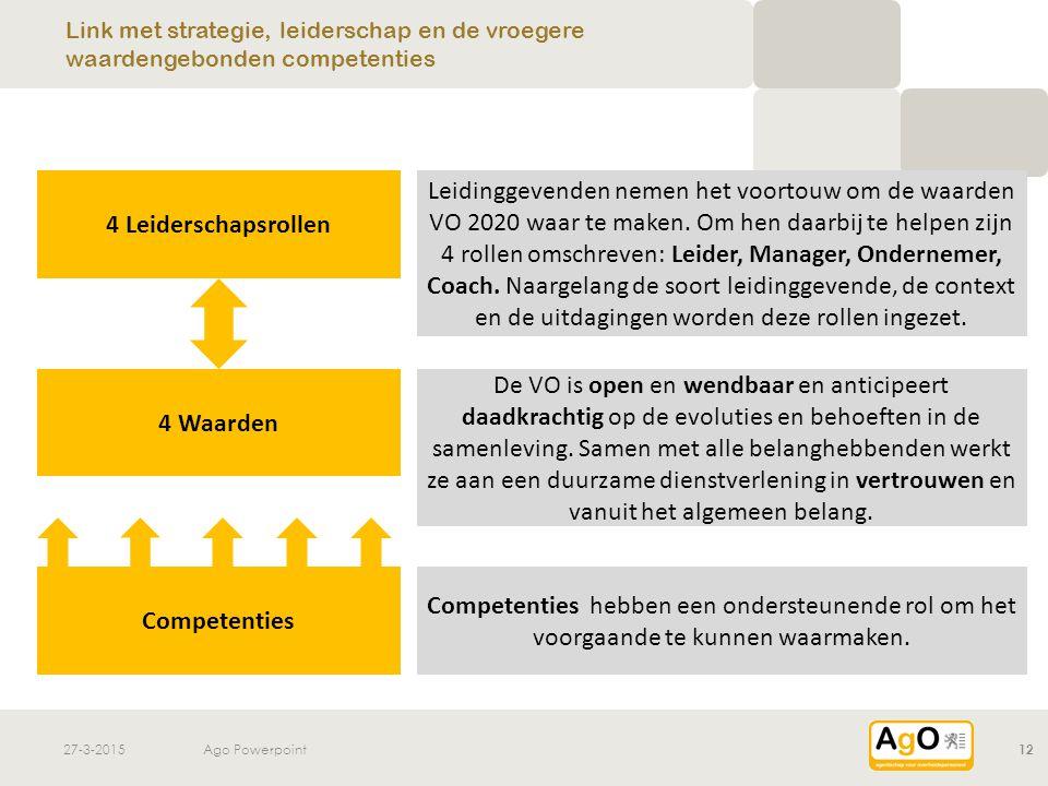 4 Leiderschapsrollen 4 Waarden Competenties