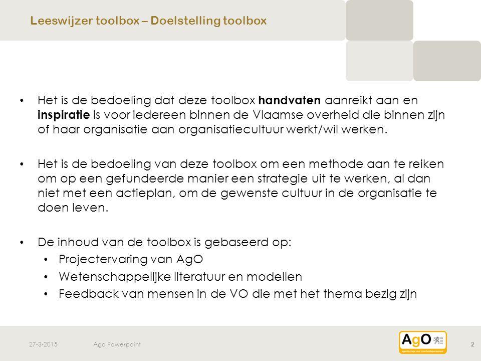 Leeswijzer toolbox – Doelstelling toolbox