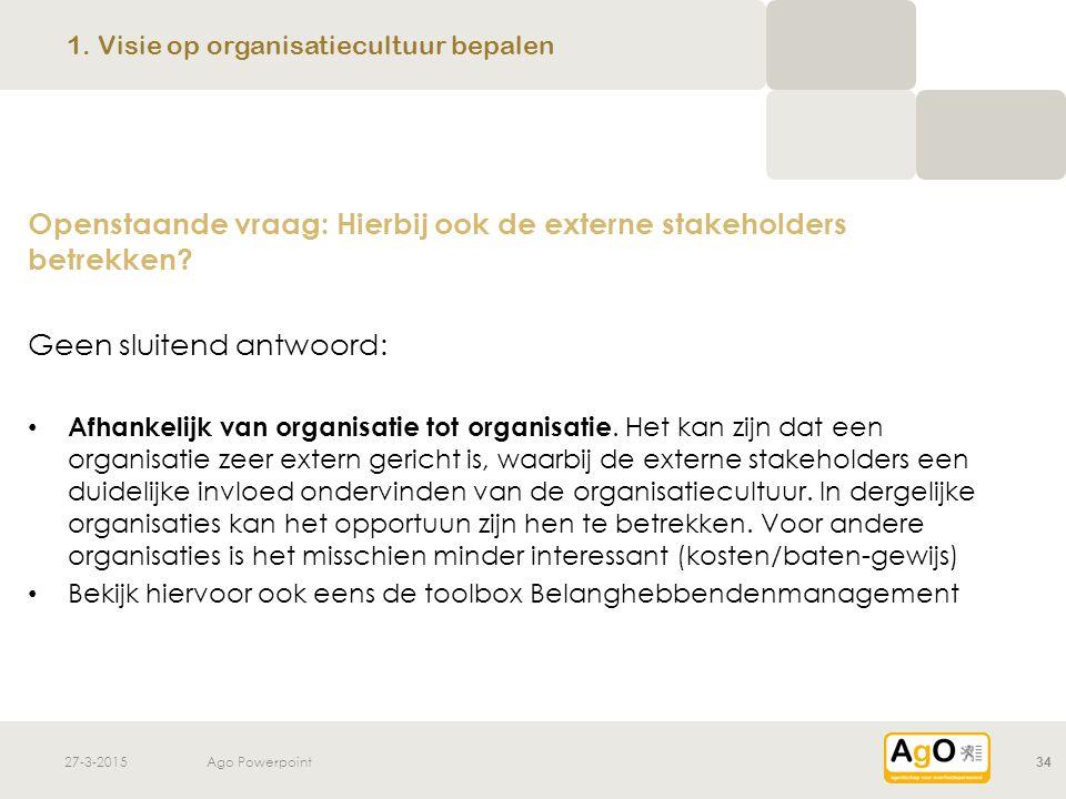 1. Visie op organisatiecultuur bepalen