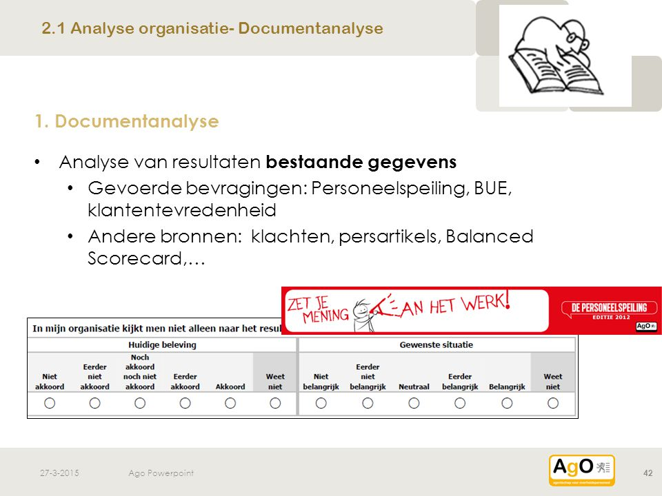 2.1 Analyse organisatie- Documentanalyse