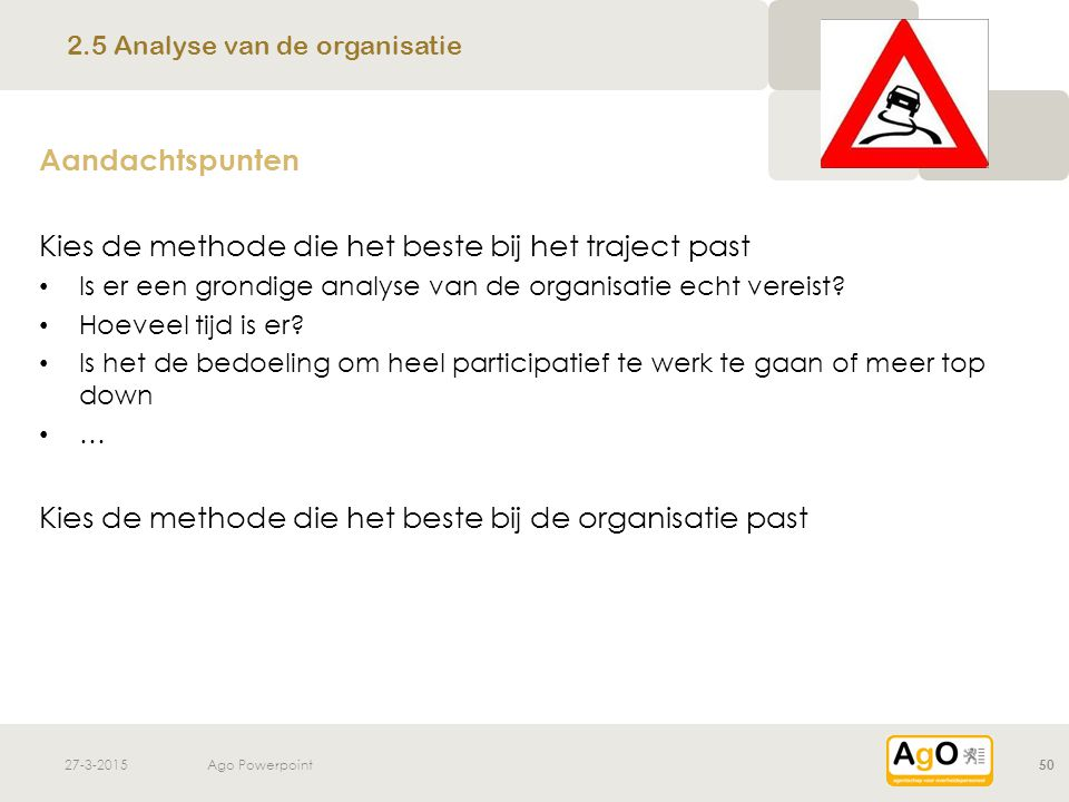 2.5 Analyse van de organisatie