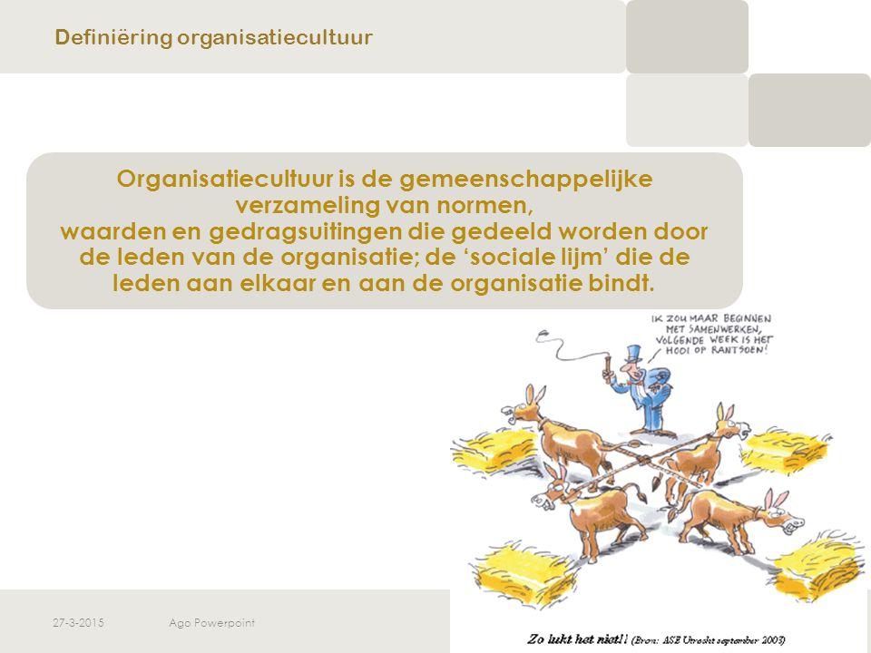 Definiëring organisatiecultuur
