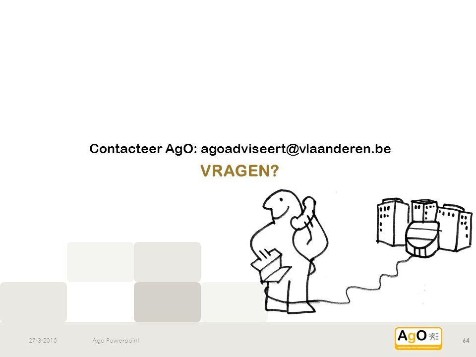 Contacteer AgO: agoadviseert@vlaanderen.be