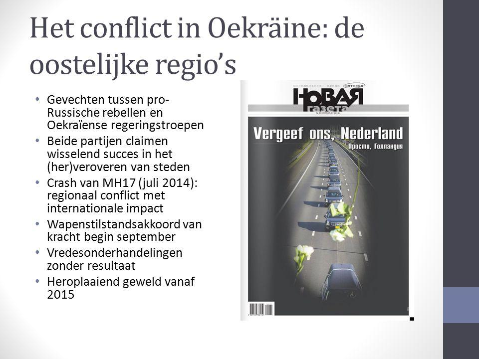 Het conflict in Oekräine: de oostelijke regio's