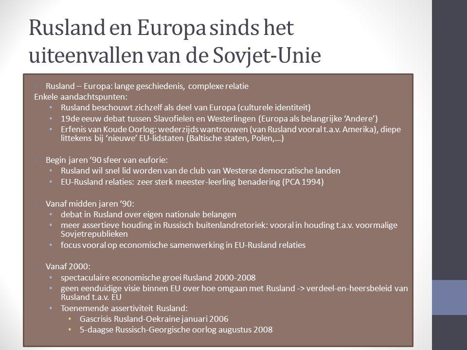 Rusland en Europa sinds het uiteenvallen van de Sovjet-Unie