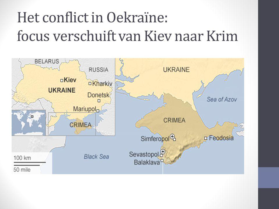 Het conflict in Oekraïne: focus verschuift van Kiev naar Krim