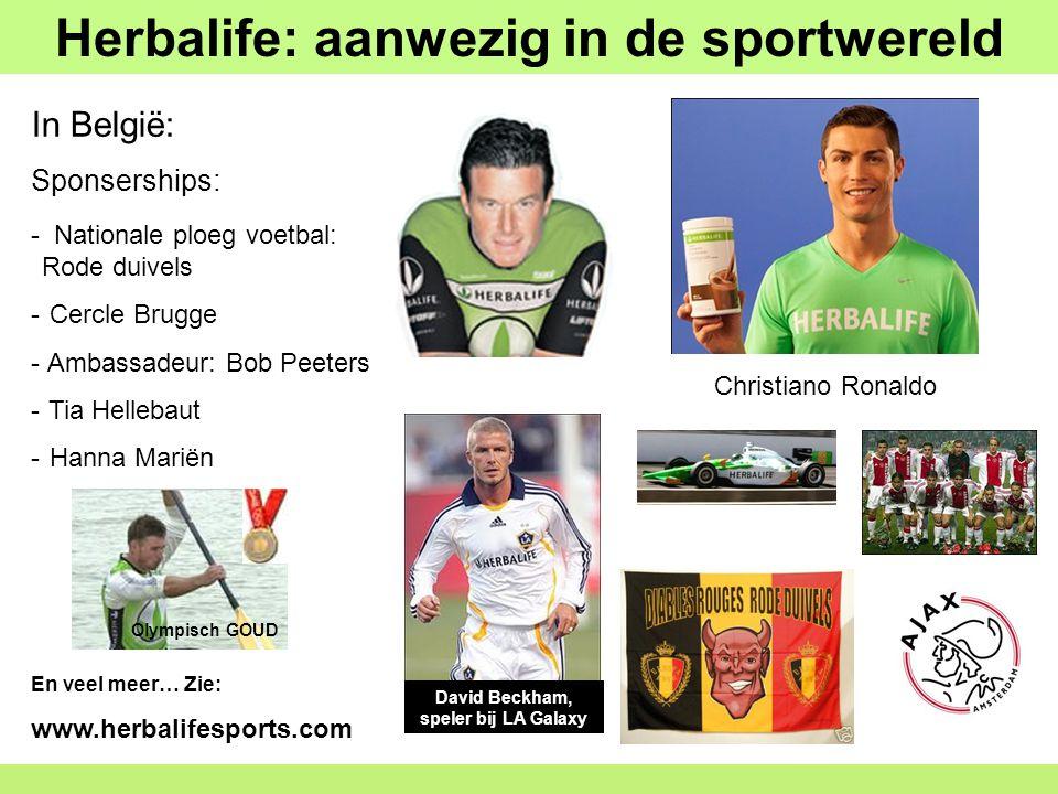 Herbalife: aanwezig in de sportwereld