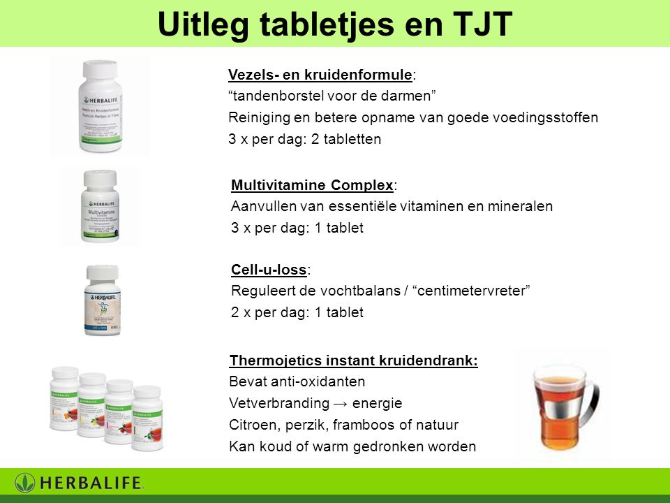 Uitleg tabletjes en TJT
