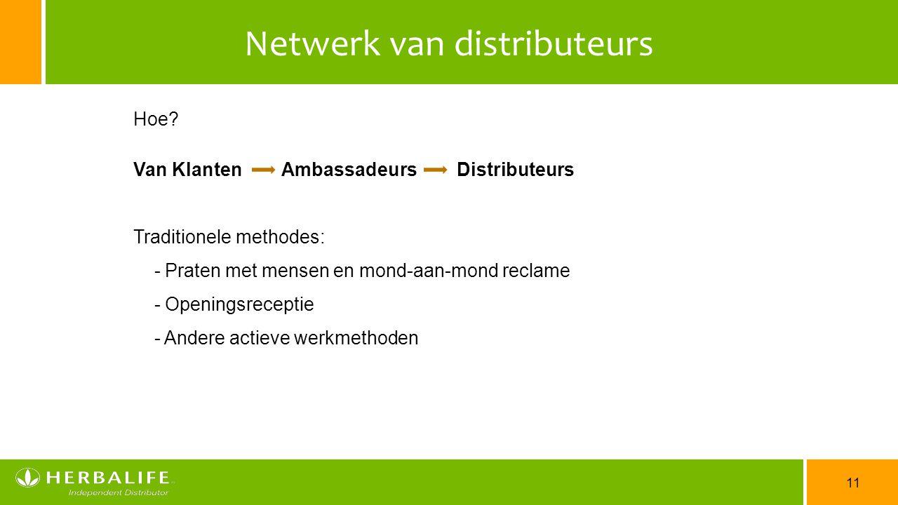 Netwerk van distributeurs