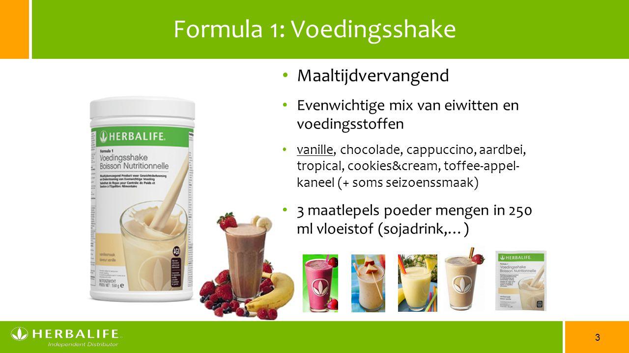 Formula 1: Voedingsshake