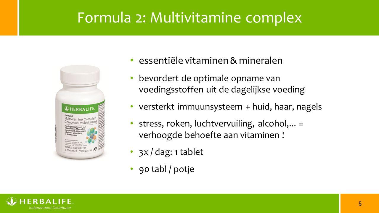 Formula 2: Multivitamine complex