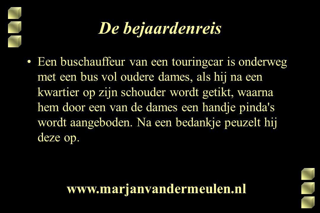 De bejaardenreis www.marjanvandermeulen.nl