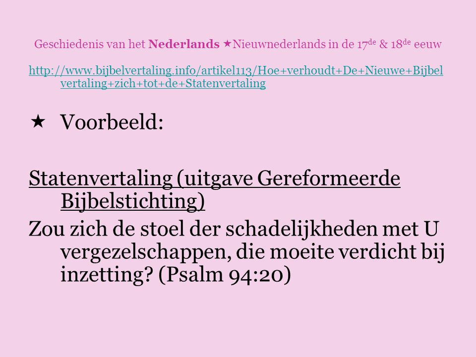 Statenvertaling (uitgave Gereformeerde Bijbelstichting)