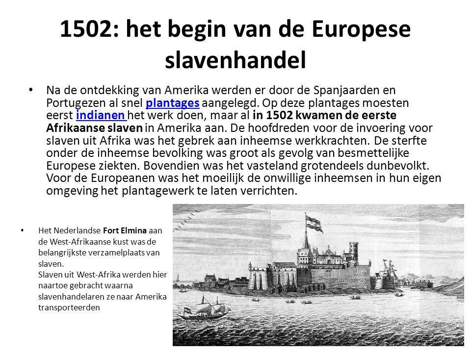 1502: het begin van de Europese slavenhandel