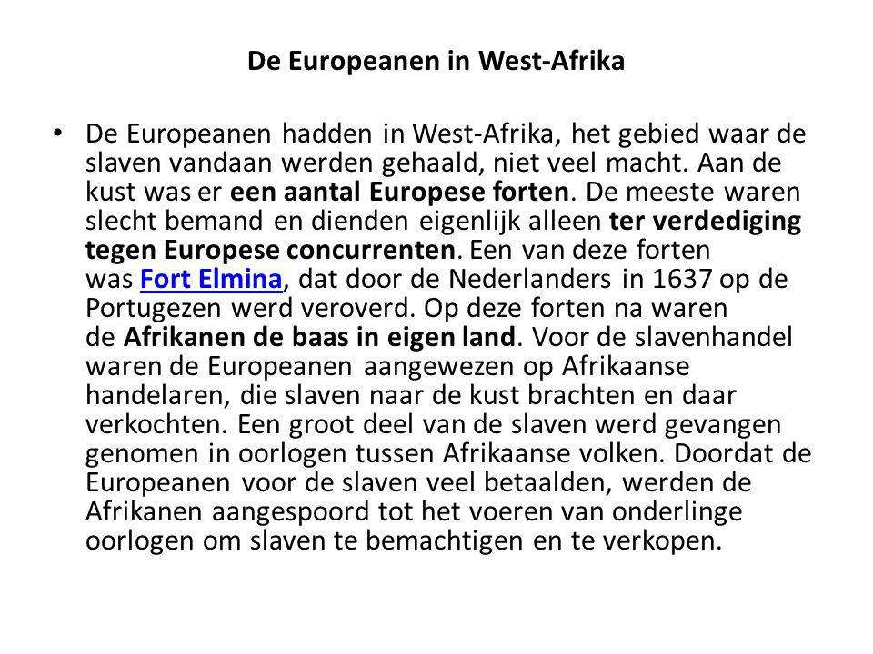 De Europeanen in West-Afrika
