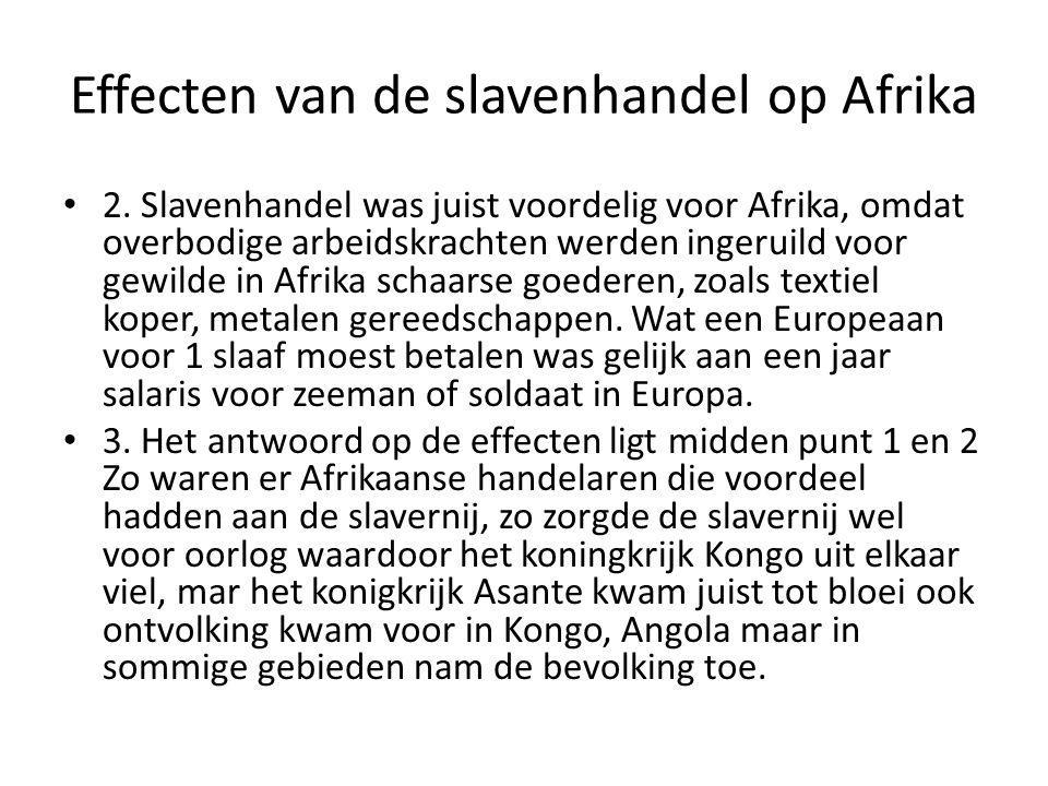 Effecten van de slavenhandel op Afrika