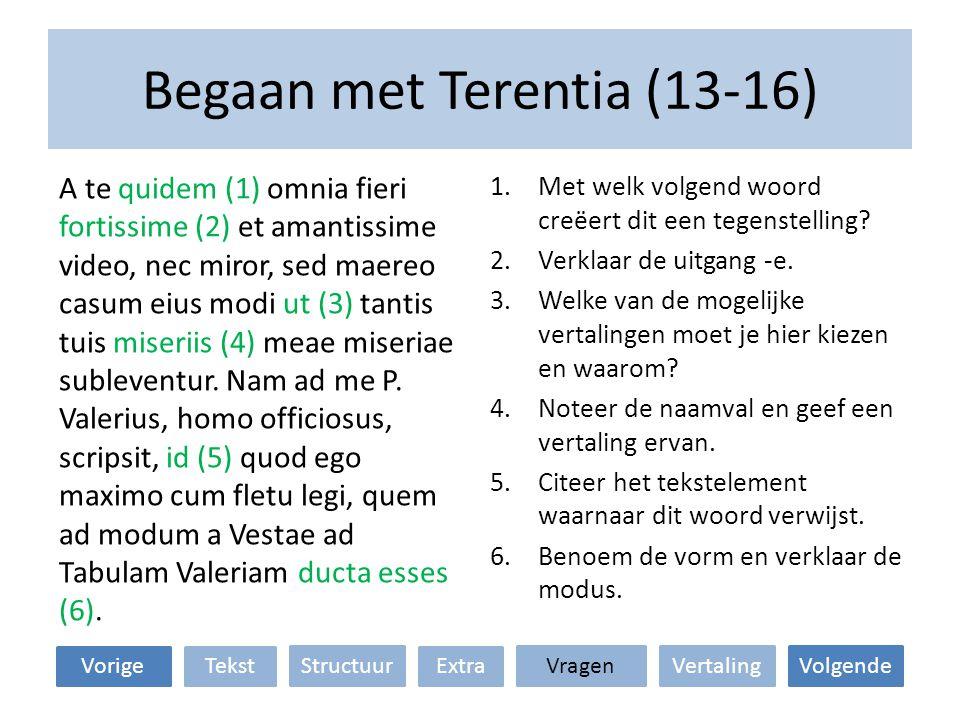 Begaan met Terentia (13-16)
