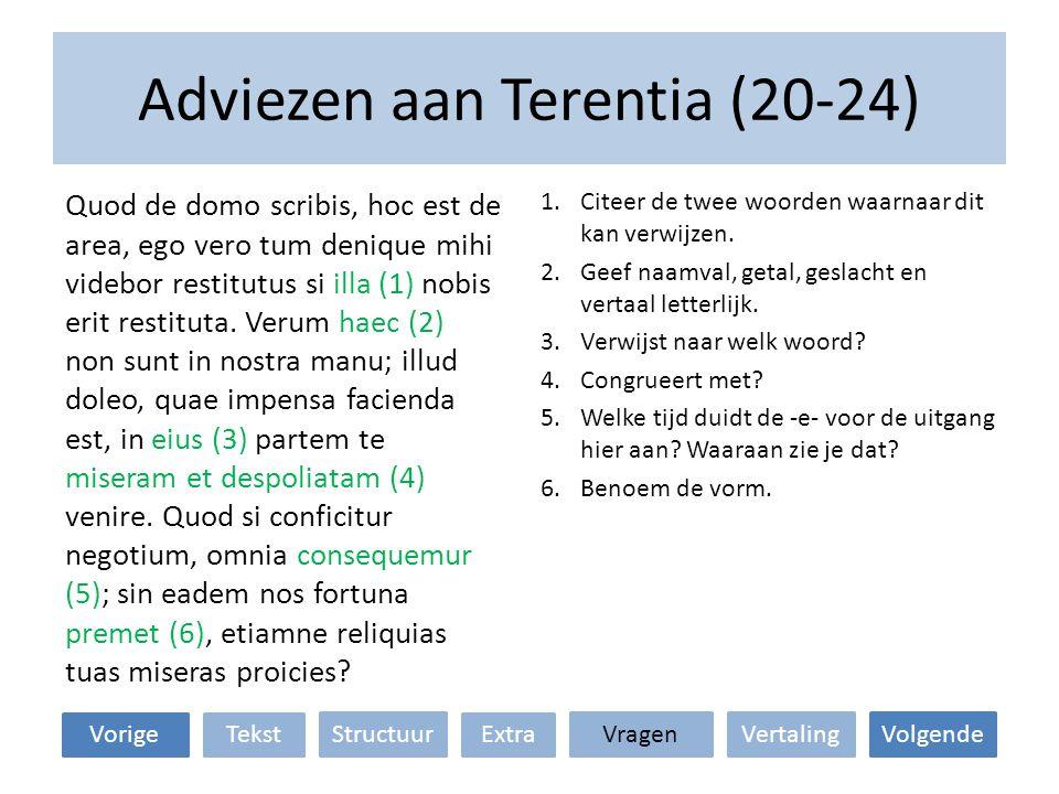 Adviezen aan Terentia (20-24)