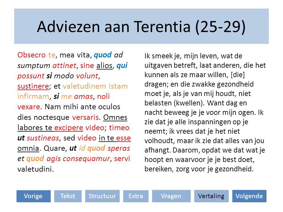 Adviezen aan Terentia (25-29)