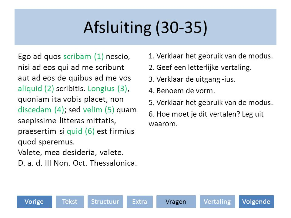 Afsluiting (30-35)