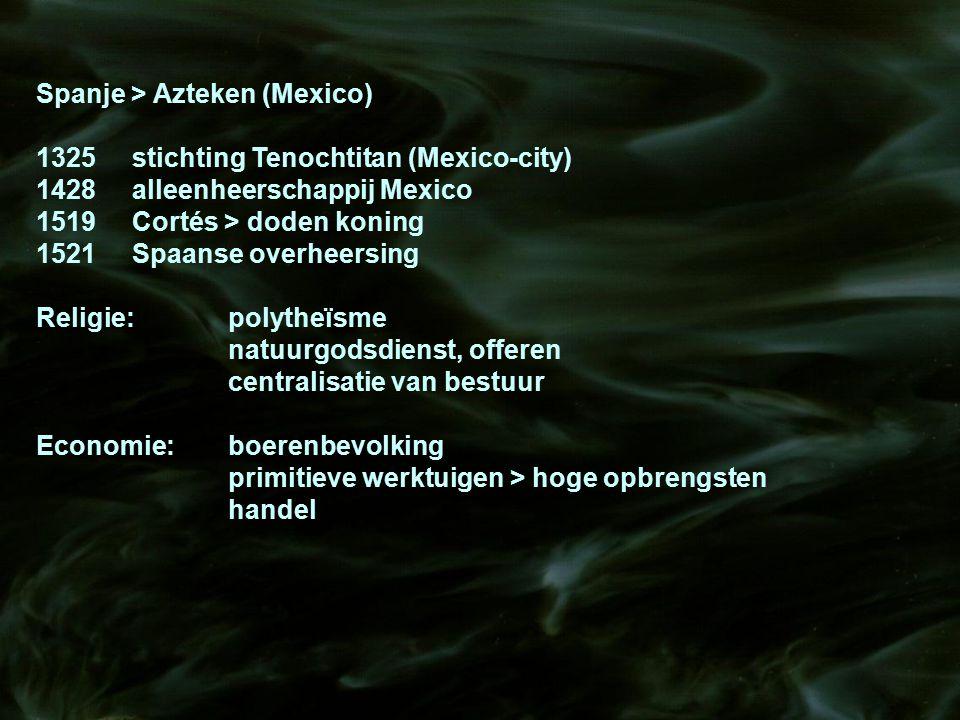 Spanje > Azteken (Mexico)