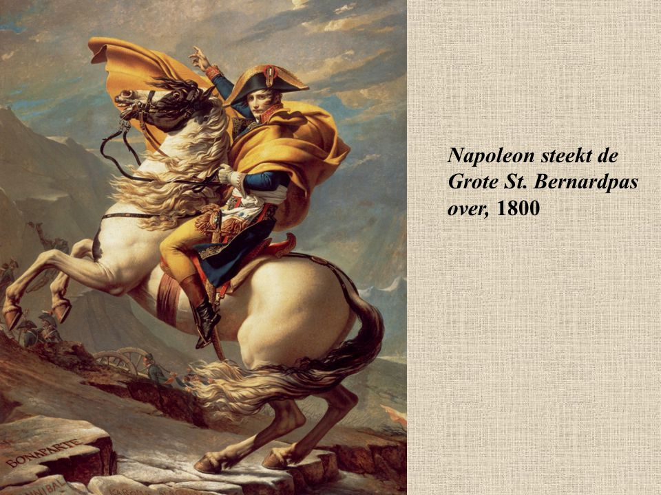 Napoleon steekt de Grote St. Bernardpas over, 1800