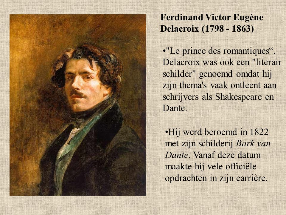 Ferdinand Victor Eugène Delacroix (1798 - 1863)