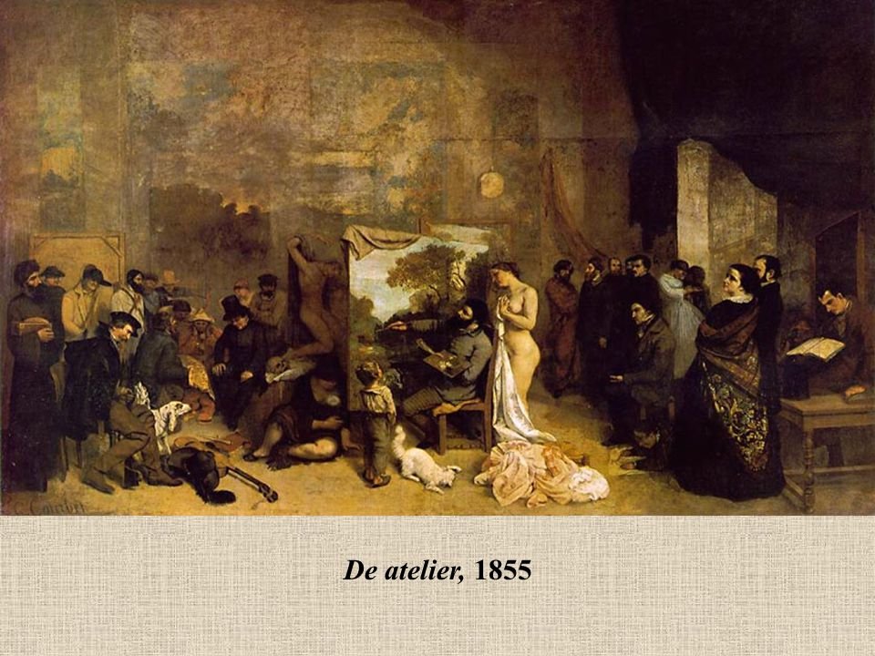 De atelier, 1855