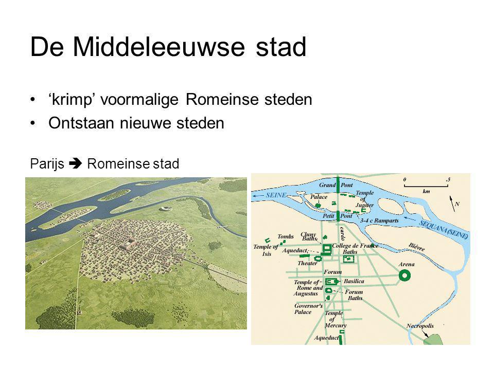 De Middeleeuwse stad 'krimp' voormalige Romeinse steden